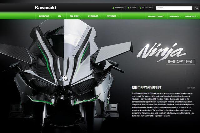 """""""300馬力のクレイジーなバイクだ!!"""" カワサキ「ニンジャH2R」、海外で話題沸騰"""