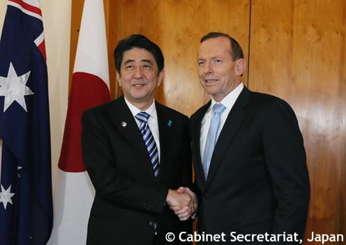 安倍首相とアボット首相