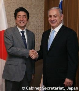 安倍首相とネタニヤフ首相