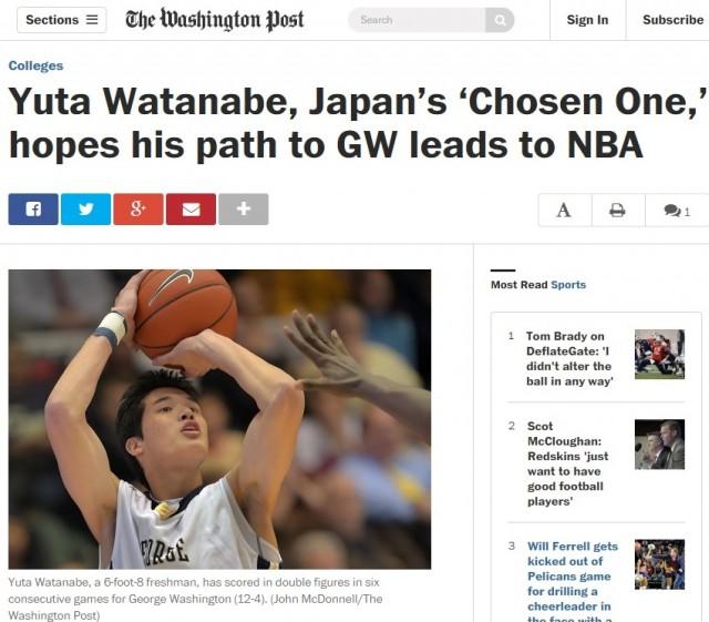 米大バスケで大活躍の渡邊雄太選手、大手紙も注目 NBAデビューへの期待も