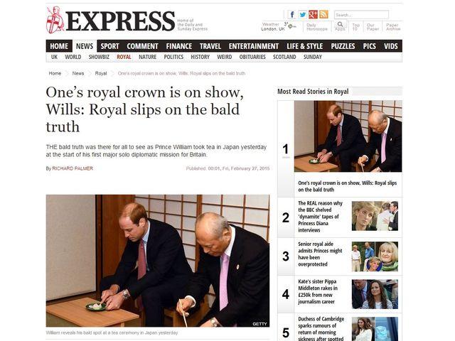 """""""飾らない""""ウィリアム王子、茶の湯から福島訪問まで大忙し 英メディアも注目"""