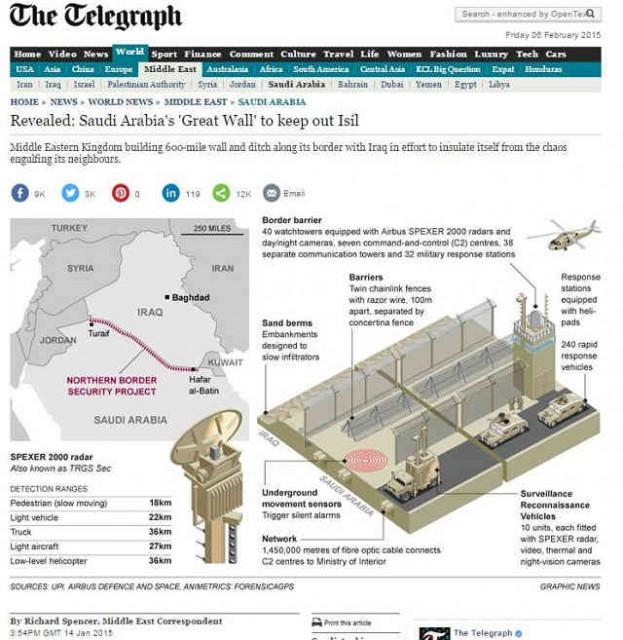 ISILの標的はサウジ? 全長1000km、ハイテク「万里の長城」で徹底防御