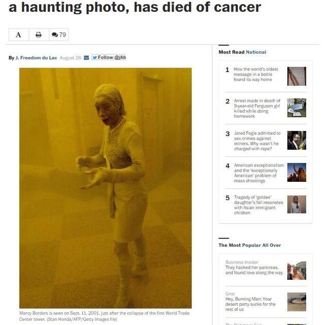 終わらない9.11、「ダスト・レディー」亡くなる いまだ生存者を苦しめる健康不安