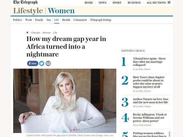 「白人に救われるべき哀れなアフリカ」観にうんざり? 英女優の回想録に現地民猛反発