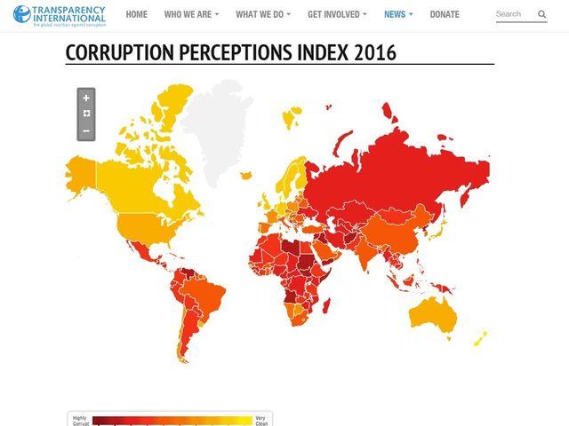 日本の腐敗指数72、アジアで3番目に健全 腐敗がポピュリズム生む、国際NGO警告