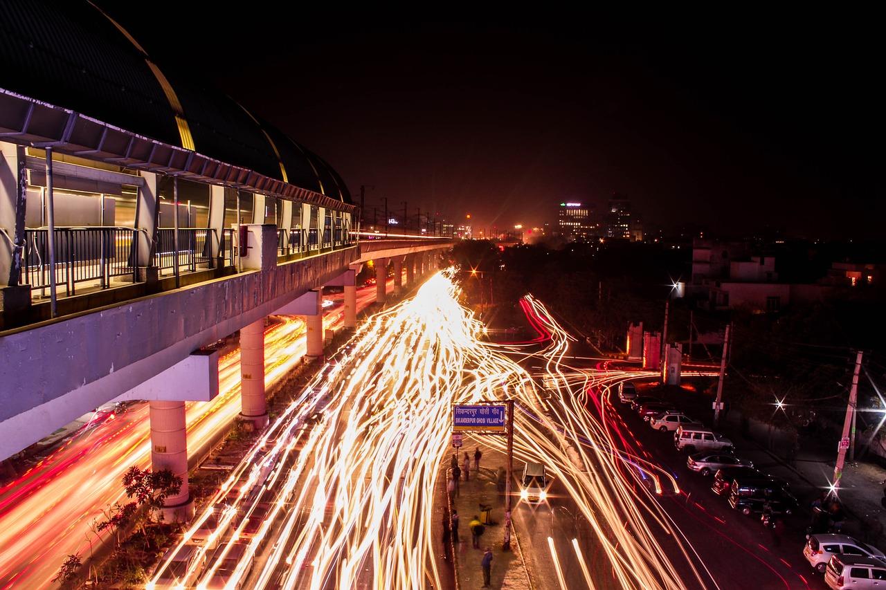 Light Delhi India City Road Gurgaon Outdoors