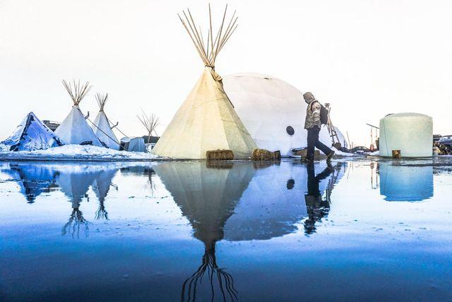 パイプラインに反対、アメリカ先住民支援が世界に拡散