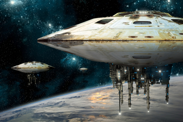 クラゲみたいな宇宙船画像